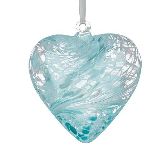 Sienna Glass HR8PASTELBL Small Glass Friendship Heart, Pastel Blue