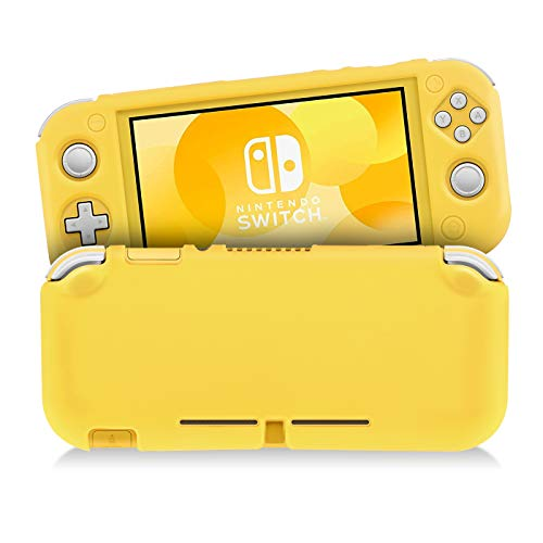 KINGTOP Funda Protectora de Silicona para Nintendo Switch Lite, Diseño Ultradelgado, Duradero, Resistente a los Arañazos, Anticolisión & Antideslizante (Amarillo)