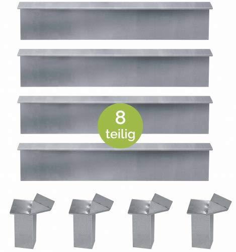 bellissa Schneckenblech, 8-teiliges Set, 4X Schneckenblech + 4X Eckteil verzinkt-Copy