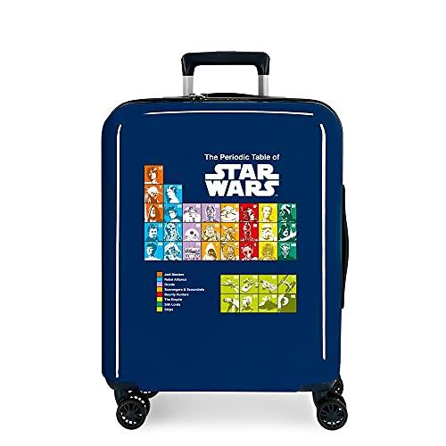 Star Wars Badges Maleta de Cabina Azul 40x55x20 cms Rígida ABS Cierre TSA Integrado 38,4 2 kgs 4 Ruedas Dobles Equipaje de Mano