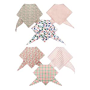 Tail Trends 6 Pack Pet Dog Bandanas Triangle Bib Scarf Assortment of Designs Available – 100% Cotton