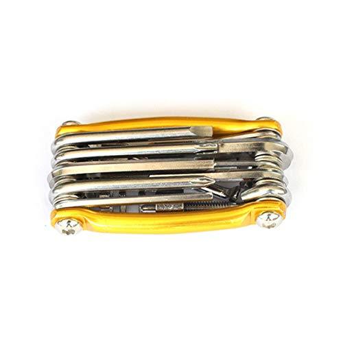 11-in-One-Multifunktions-Fahrradreparaturwerkzeug-Reparaturkombinationsset T25 mit Kettenstopper-Reitausrüstung