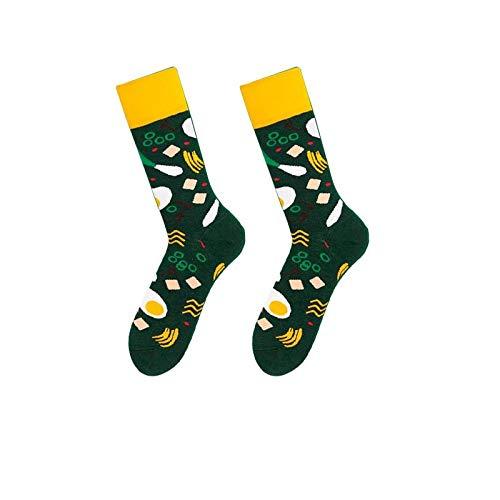 Nieuwigheid Sokken,3 paar lente zomer katoen ademende en comfortabele sokken vrije tijd wild sport groen voedsel patroon eenvoudige mannen en vrouwen paar trend katoenen sokken gepersonaliseerde kleding accessoires G