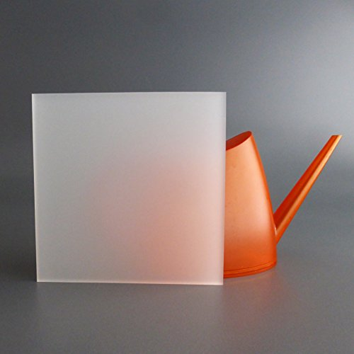 lobotec-acryl PLEXIGLAS Zuschnitt Acrylglas Zuschnitt 3-10mm weiß satiniert - Snow - (6mm, Sondermaß)