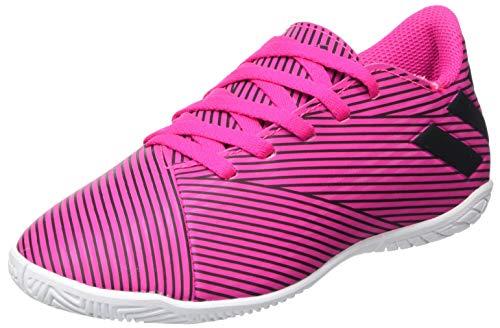 Adidas Nemeziz 19.4 IN J, Botas de fútbol Niño, Rosa Negro, 34 EU