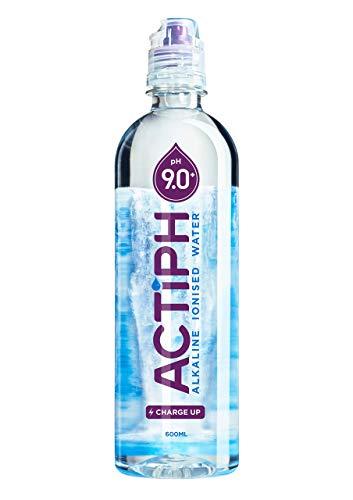 ActiPH ActiPH Agua Alcalina Ionizada Agua 600 ml (Paquete de 24)