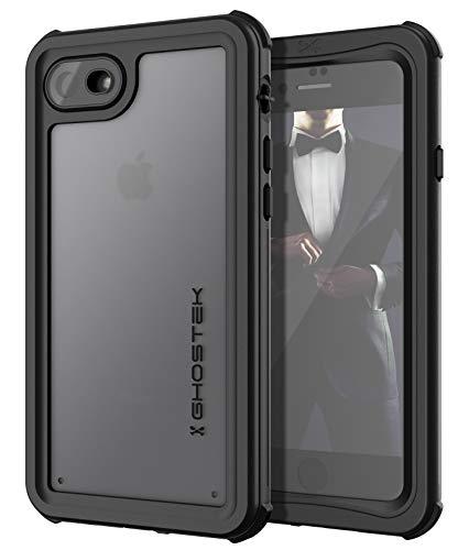 ゴーステックIP68防水防塵タフネスケースノーティカルforiPhone8/7ブラックGHOCAS828