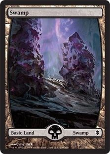 Magic The Gathering - Swamp - Full Art (239) - Zendikar