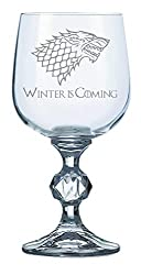 House stark - winter is coming wine goblet Perfect gift for a loved one who is a game of thrones fan and enjoys a drink or two! Made of non-leaded crystal. Dishwasher safe however hand wash recommended to preserve shine and brilliance 340ml Capacity ...