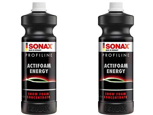 ILODA® 2x SONAX 1 l PROFILINE ActiFoam Energy stark schmutzlösender Reiniger mit toller Schaumentwicklung für die Fahrzeugwäsche