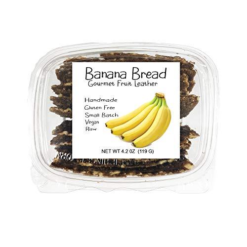 Raw Wraps Banana Bread Fruit Leather, Gluten Free, Fruit Snacks, Gourmet Dessert Flavors