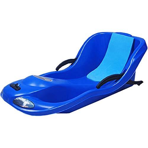 YAHAO Trineo Plastico,Trineo De Nieve,Tabla De Diversión De Esquí Unisex De 90 Cm Skiing/Clip/Warm Cushion Más Adecuado para Deportes De Invierno