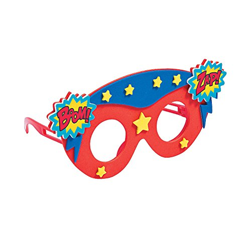 Kids Superhero Foam Glasses Craft Kit -12 - Crafts for Kids and Fun Home Activities