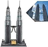 Xingdong Edificio Set 1160 Piezas Mundial Famosas Torres gemelas Building Blocks Ladrillos Juego de construcción Regalos Conjunto de Bricolaje Juguete for niños y Adultos Presente de cumpleaños Moda