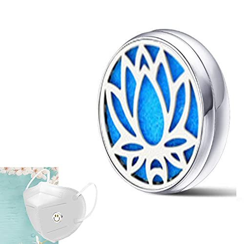 magnéticas para difusor de máscara de Aire , Hebilla de medallón magnético de aromaterapia en la Cara, medallones difusores de Aceite Esencial para la Cara (A, 15mm)