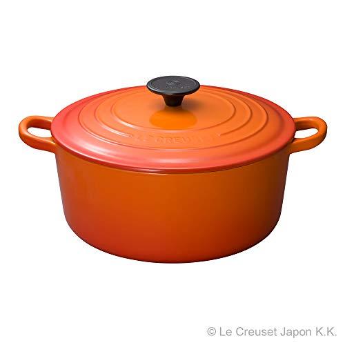 【Amazon.co.jp限定】LeCreuset(ルクルーゼ)5点セット両手鍋24cm18cmオレンジウォックパン30cmスチーマー24cmバッグ