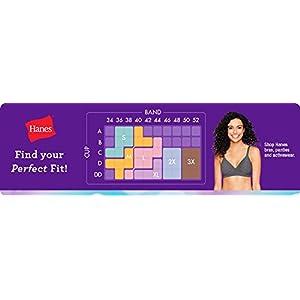 Hanes womens Cozy Seamless Wire-free Bra, Grey Heather, XX-Large US