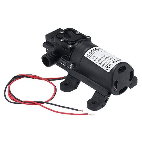 12V Hochdruck Membranpumpe Selbstansaugende Wasserpumpe 72W Refluxpumpe Miniatur Elektrische Membranpumpe für Wohnmobil, Wohnwagen, Boot