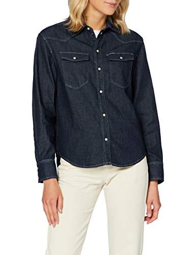 G-STAR RAW Western Denim Relaxed Camisa, enjuagado C437-082, Medium para Mujer