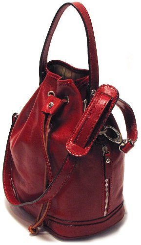 Big Sale Floto Luggage Soft Lining Ciabatta Satchel, Tuscan Red, Small