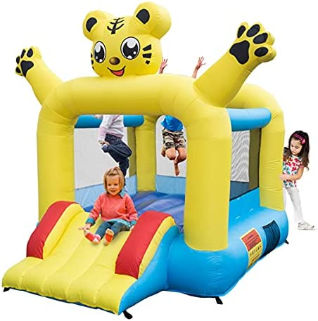 4-in-1 Kids Inflatable Bounce Limited time trial price House Jumping Slides Bombing free shipping Castle with 2