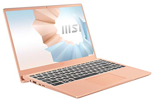 MSI Modern 14 B11SB-086 (35,6 cm/14 Zoll/Full-HD) Premium Laptop (Intel Core i7-1165G7, 8GB RAM, 512GB PCIe SSD, NVIDIA GeForce MX450, Windows 10) Beige Mousse
