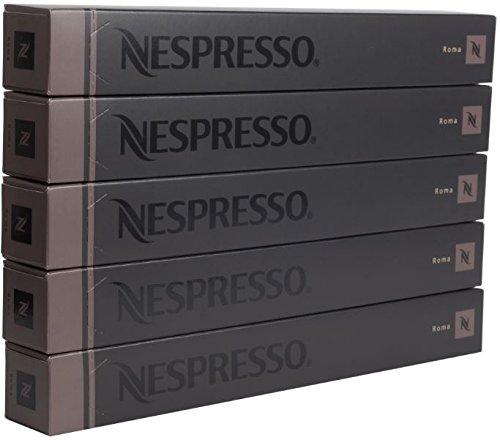 New original Nespresso Roma flavour coffee 50 Capsules Pods 5 Sleeves Long expiry