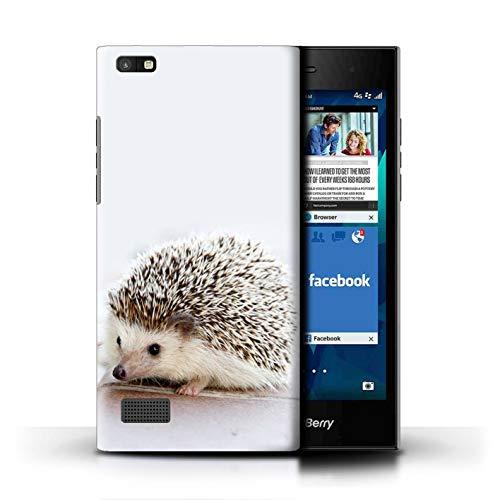 Hülle Für BlackBerry Leap Süß Baby Tier Fotos Kleiner Igel Hoglet Design Transparent Ultra Dünn Klar Hart Schutz Handyhülle Hülle