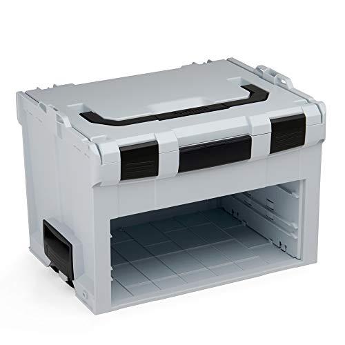 Bosch Sortimo LS-BOXX 306 in grau | Werkzeugkoffer Kunststoff leer| Werkzeugkoffer Bosch Professional | Idealer Werkzeugkasten leer