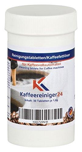 30 Reinigungstabletten für Kaffeevollautomaten je 1,6g - Hochwertige Reinigungstabs kompatibel mit Jura, Siemens, Melitta, Krups uvm. - Made in Germany