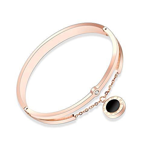 Armband Armbanden Link Armbanden Romeinse cijfers zwart en wit schelp met diamant gesp armband