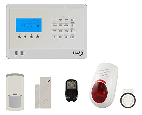 LKM Security WG-YL007M2EB + 3S + 1pir + sir03_ 01Kit M2E Antirrobo Alarma Casa inalámbrico