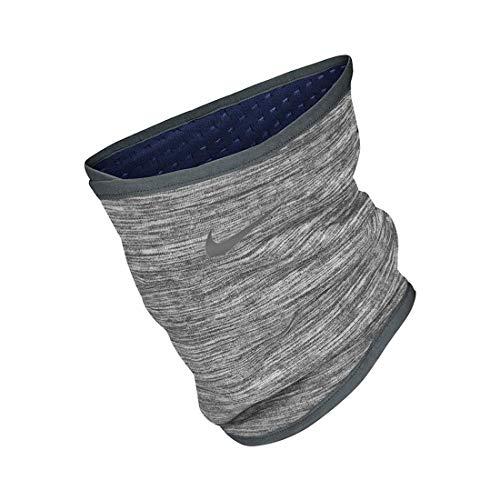 Nike Unisex– Erwachsene Run Therma Sphere Nackenwärmer, Iron Grey Heather/Grey Fog/Silver, S/M