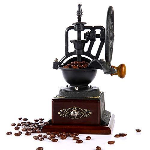 SYSP Handmatige koffiemolen antiek gietijzer handslinger koffiemolen met slijpinstellingen & Catch lade