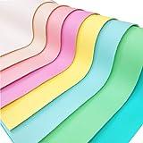 ZAIONE - Hojas de tela de piel sintética, 8 piezas de 8 x 12 pulgadas (21 x 30 cm) Macarons Candy sintético hojas de cuero pastel colores pastel paquete para arcos, hacer manualidades