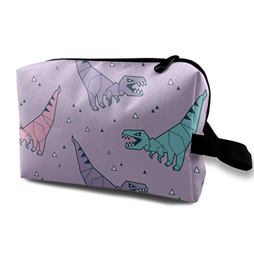 Pattern with Blue and Pink Origami Cosmetic Beauty Bag Cosmetic Makeup Bag Waterproof Women Girl