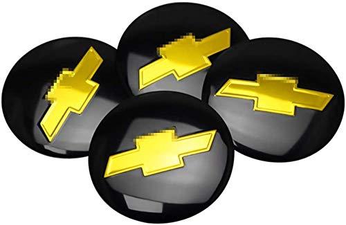 4 piezas 56mm con el Logotipo Wheel tapacubos Para Chevrolet Colorado Cruze Spark Captiva Malibu Trax Aveo, Central Cubierta de buje Prueba De Polvo Automóvil Accesorios