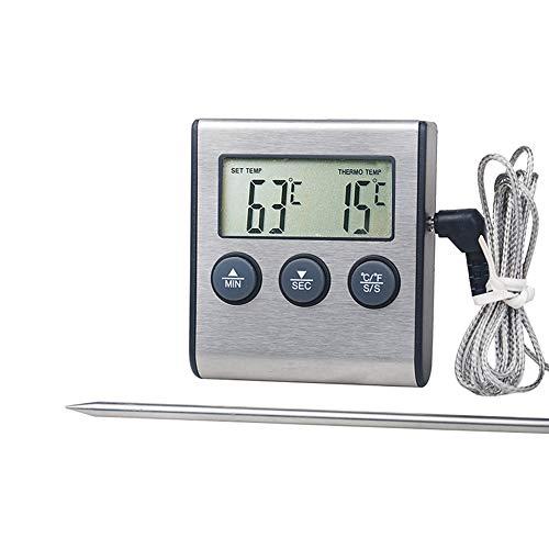 Yagoal Fleischthermometer Für Backofen Kochthermometer Digital Kochen Thermometer Für Fleisch Lebensmittel Thermometer Perfekte für Kochen
