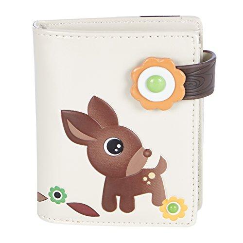 Shagwear - Piccolo portafoglio Multicolore Cervo Nel Bosco Beige/ Woodland Deer