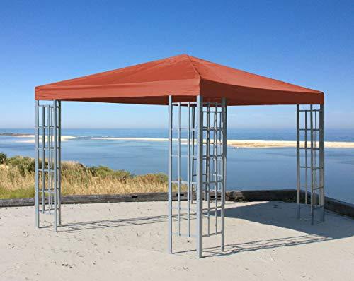 QUICK STAR Rank Pavillon 3x3m Metall Garten Partyzelt Terra