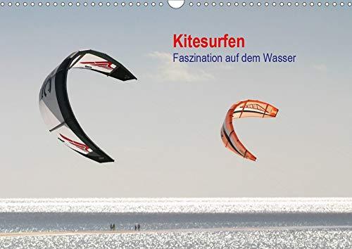 Kitesurfen – Faszination auf dem Wasser (Wandkalender 2020 DIN A3 quer): Bildkalender mit Fotos vom Kitesurfen (Monatskalender, 14 Seiten ) (CALVENDO Sport)