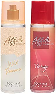 Affetto By Sunny Leone Romance & Vintage Body Mist - For Women 200ML Each (400ML, Pack of 2)