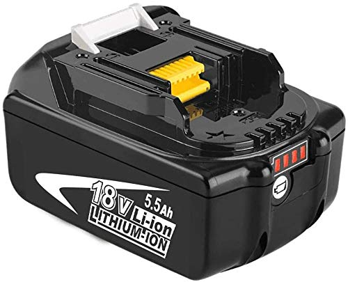 Reoben 2X BL1860B 5,5Ah Li-ion Batterie de Rechange Remplacement pour Makita 18V BL1830B BL1840B BL1850B BL1860B BL1830 BL1840 BL1850 BL1860 BL1815 BL1835 Reoben