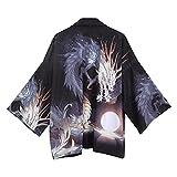 MIAOML Kimonos Karate Samurai Disfraz Kimono Japones Tradicional Japonés Ropa para Hombre Yukata Masculina,H-M