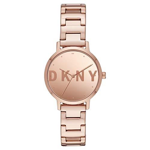 DKNY Damen-Uhren Analog Quarz One Size Rosé Edelstahl 32010658