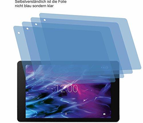 4ProTec I 4X Crystal Clear klar Schutzfolie für MEDION LIFETAB X10605 Bildschirmschutzfolie Displayschutzfolie Schutzhülle Bildschirmschutz Bildschirmfolie Folie