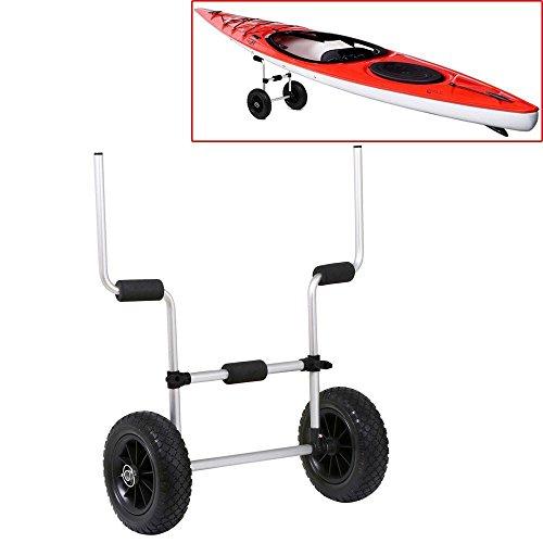 YAHEETECH Kayak Cart for Sit-On-Top Kayaks Scupper Trolley Cart Kayak Carrier, Silver