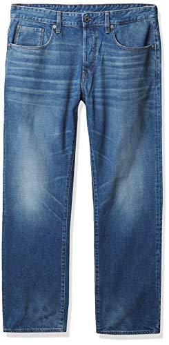 G-STAR RAW Herren 3301 Relaxed Jeans, Blau (Medium Aged 9299-071), 33W / 32L