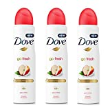 3 Pack Dove Go Fresh Apple & White Tea Antiperspirant Deodorant Spray, 150ml