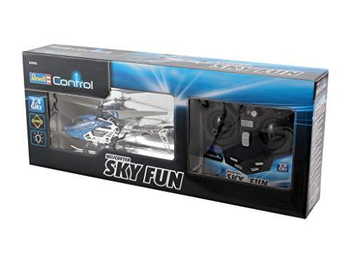 Revell Control RC Helikopter, ferngesteuerter Hubschrauber für Einsteiger, 2,4 GHz Fernsteuerung, einfach zu fliegen, Gyro, stabiles Chassis, LED-Beleuchtung, USB-Ladegerät – SKY FUN 23982 - 9